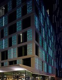 طراحی نمای نئونی از سنگ کورین