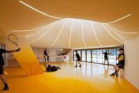 معماری و طراحی داخلی باشگاه تنیس استراسبورگ، فرانسه