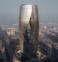 بزرگترین آتریوم جهان در برج تجاری پکن