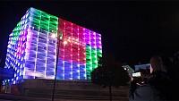 تجربه متفاوت از حل مکعب روبیک در نمای ساختمان!