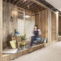 نمونه طراحی هیجان انگیز از دفتر اداری در لهستان