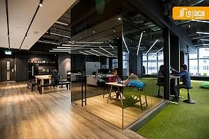 طراحی داخلی دفتر اداری 9GAG