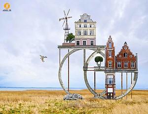 طراحی خانه های مسکونی رویایی با ترکیب المان ها و لنداسکیپ های مختلف