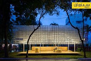 معماری و طراحی خلاقانه ی غرفه ی غذا در ویتنام