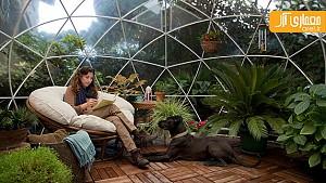 طراحی خلاقانه حباب های شفاف برای حیاط خلوت