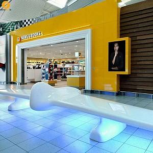 طراحی داخلی بخش تجاری فرودگاه