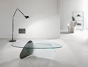 کریم رشید، طراحی میز با همپوشانی با سطوح شیشه ای