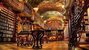 کتابخانه زیبای سبک باروک در جمهوری چک