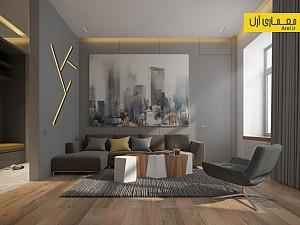 استفاده از طرح های هندسی در طراحی داخلی آپارتمان - 1
