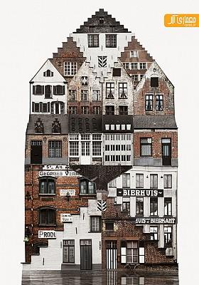 معماری خانه ها در شهرهای مختلف دنیا به روایت anastasia savinova