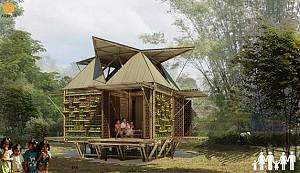 ساخت خانه های مستحکم با استفاده از چوب بامبو