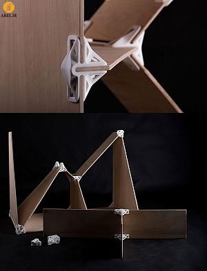 اتصالات 3d پرینت با قابلیت اتصال قطعات سریع و ساده صفحات چوب