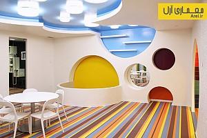 طراحی داخلی مهد کودک و فضای بازی kalorias