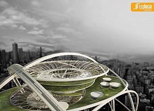 معماری آسمانخراش Zero طرح مسابقه evolo