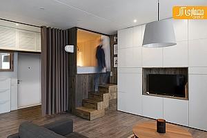 طراحی داخلی آپارتمان در 35 متر توسط علیرضا نعمتی