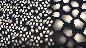 بازی نور و پویایی نمای ساختمان