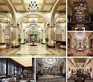 35 نمونه طراحی داخلی لابی هتل، با سبک های متنوع