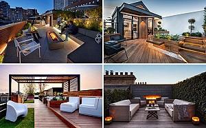 10 ایده جذاب برای طراحی تراس و پشت بام