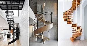 16 نمونه طراحی پله گرد مدرن