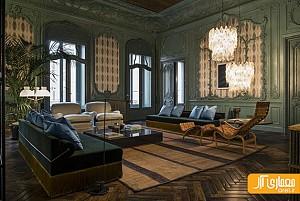 دکوراسیون داخلی آپارتمان خصوصی فندی به سبک ایتالیایی