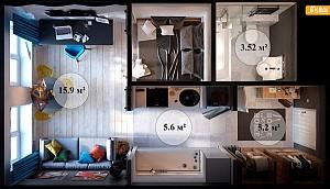 بررسی دکوراسیون داخلی سه آپارتمان با متراژ بین 30 تا 50 متر مربع