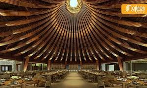 طراحی داخلی رستوران و استحکام چوب بامبو