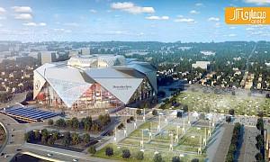 معماری استادیوم مرسدس بنز در آتلانتا