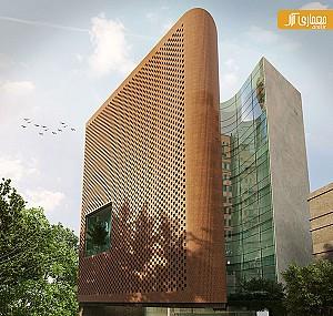 طراحی ساختمان اداری تجاری نیاوران اثر محمدرضا نیکبخت
