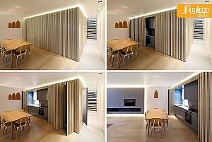 ایده طراحی آشپزخانه پنهان!