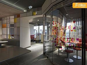 طراحی داخلی فست فود مک دونالد در فرانسه