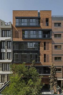 معماری و طراحی نمای آپارتمان نیلوفر تهران