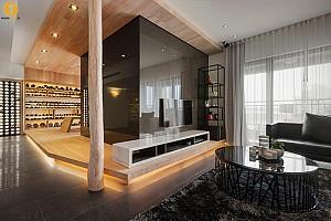 طراحی داخلی آپارتمان مدرن تایپه