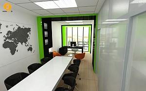 طراحی داخلی دفتر کار - سعادت آباد