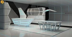 طراحی میز مفهومی TRON