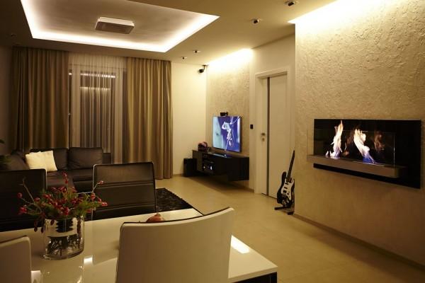 Interiør design leilighet med en minimalistisk stil