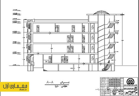دانلود نقشه های اتوکد ساختمان اداری سازمان شهرداری همدان