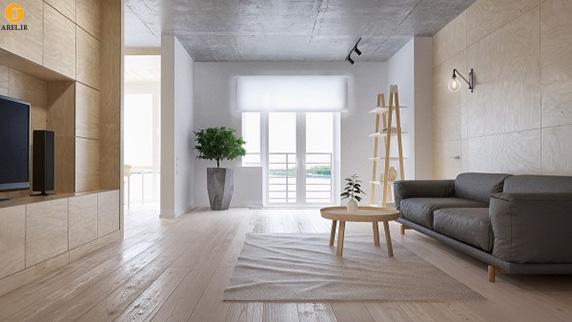 آپارتمانی با دکوراسیون داخلی مینیمال