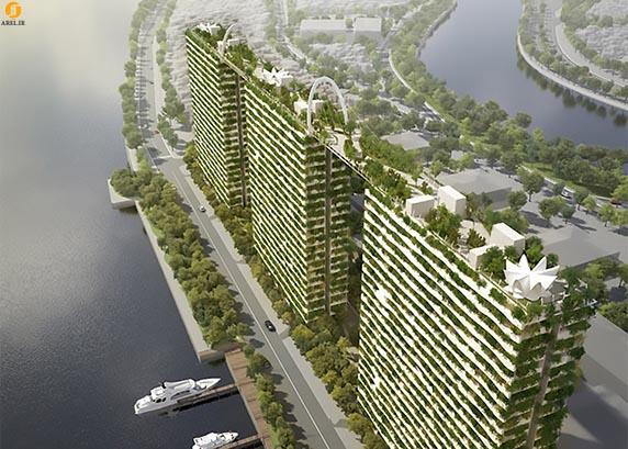 معماری سبز: طراحی پلی سبز بر فراز بلوک های آپارتمانی