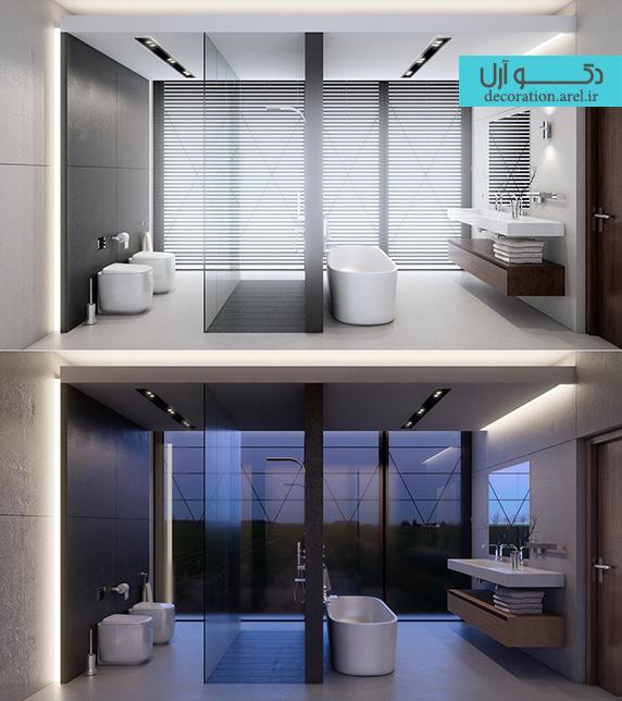 دکوراسیون سرویس بهداشتی،دکوراسیون حمام،وان حمام