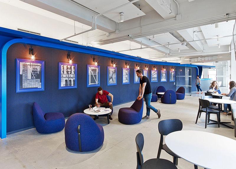 طراحی داخلی دفتر اینستاگرام