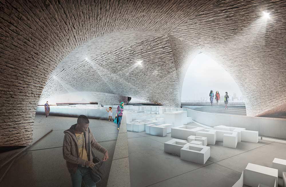 طرح پیشنهادی موزه زیر پل میرداماد