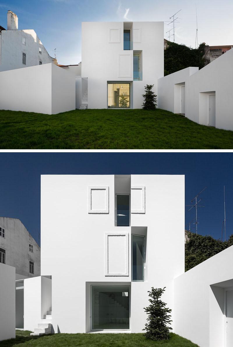 نمونه نمای مدرن و سفید رنگ