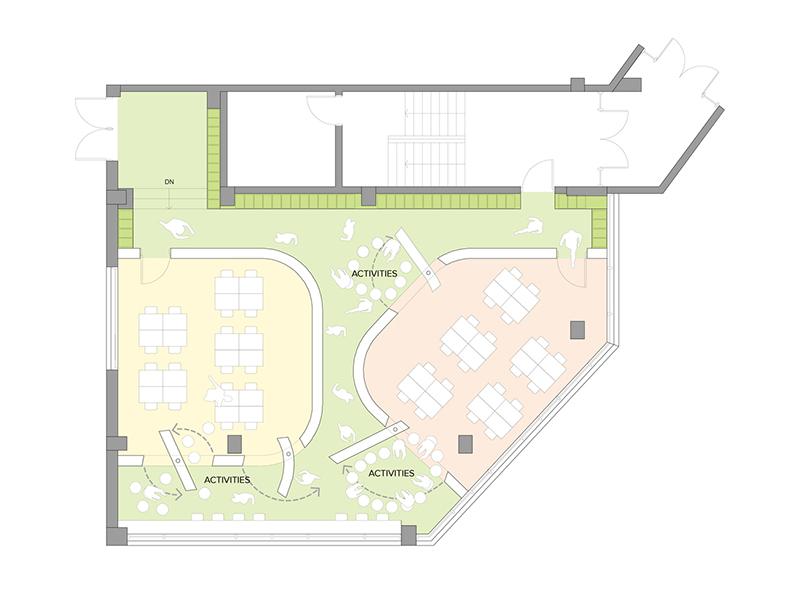 طراحی داخلی و بازسازی مدرسه ابتدایی DSSI