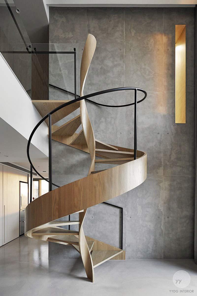 طراحی پله گرد مدرنز