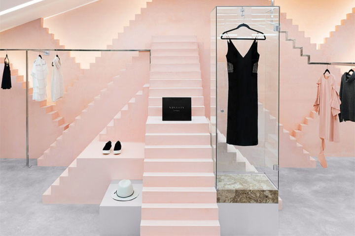طراحی داخلی بوتیک پوشاک زنانه