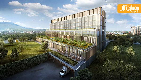 معماری مرکز سلامت آلماتی توسط گروه SOM