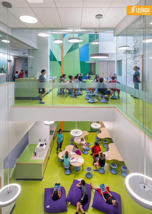 معماری مدرسه ابتدایی جنگلی در آمریکا