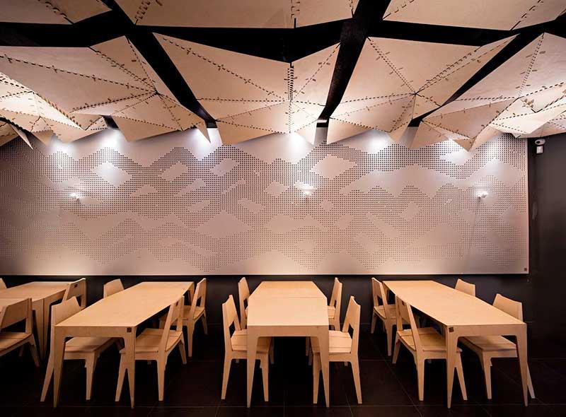 طراحی داخلی رستوران 100 متری
