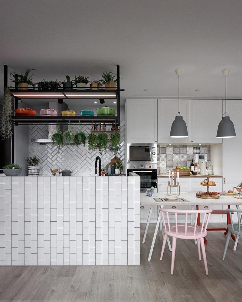 معماری داخلی آپارتمانی با سبک اسکاندیناوی
