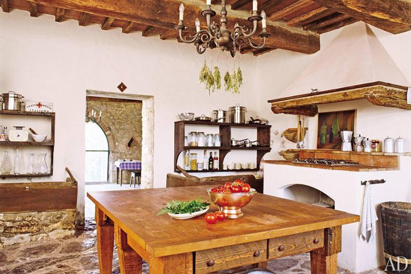 طراحی داخلی آشپزخانه به سبک روستیک